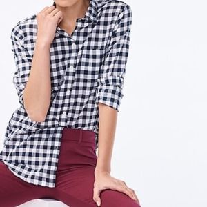 Blue J.crew checkered button up 8